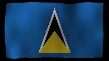 saint lucia flag 4k bewegungsschleife stock video
