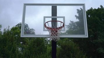 tiro del banco de baloncesto 4k