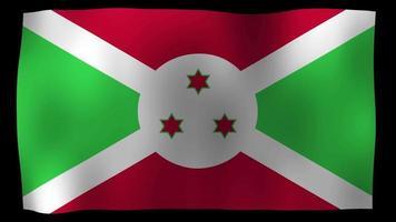 Burundi flag 4k motion loop stock video