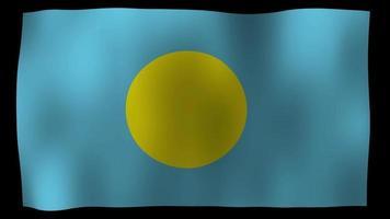bandiera di palau 4k motion loop archivi video