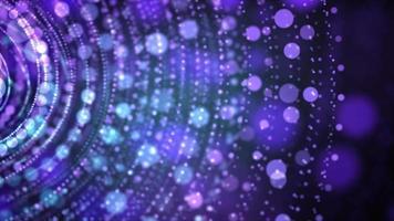 luzes de bokeh suave formando anéis de tamanhos diferentes girando no mesmo eixo video