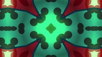 círculos vermelhos e verdes em um caleidoscópio video