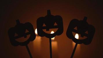 halloween pumpkin shadows