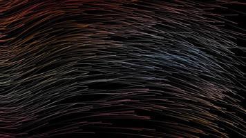 gráfico de movimiento de 4k de arco iris peludo