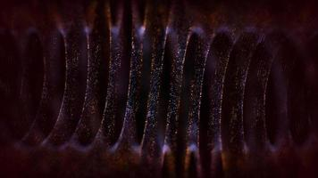 bobina metallica in bronzo in 4k cgi