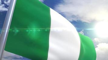 Waving flag of Nigeria Animation