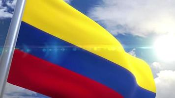 Waving flag of Colombia Animation