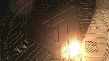 Crypto Moeda Maidsafecoin Moeda 3d Renderização Blockchain
