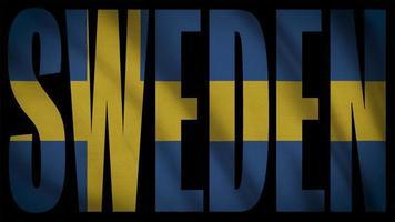 bandera de suecia con máscara de suecia