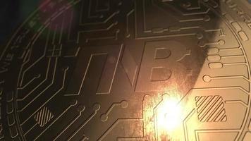 crypto currency tnb coin renderização em 3d blockchain