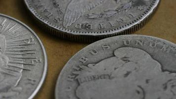 Imágenes de archivo giratorias tomadas de monedas americanas antiguas - dinero 0121