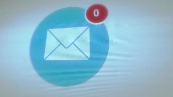 je hebt 100 berichten in de e-mailbox ontvangen