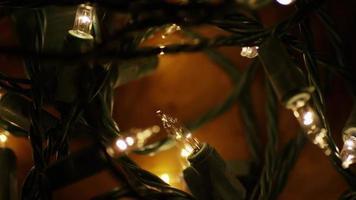 Plano cinematográfico y giratorio de luces navideñas ornamentales - navidad 010