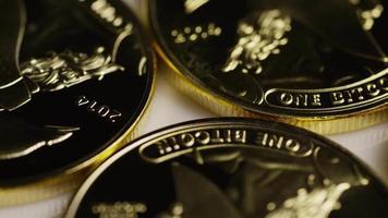 foto rotativa de bitcoins titan (criptomoeda digital) - titan bitcoin 025