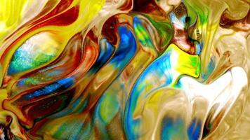 tinta colorida abstrata explodindo video