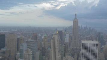 Rooftop View of Empire State Building Pan 4K