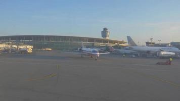 pista de la terminal del aeropuerto 4k video