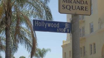 letrero de hollywood boulevard 4k