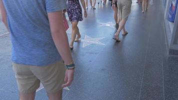 le Hollywood Walk of Fame 4k