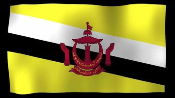Brunei Flag 4K Motion Loop Stock Video