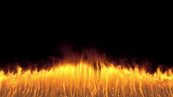 parede de chamas vfx que surge do solo video