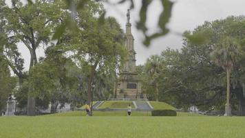 monumento confederado em forsyth park savannah georgia