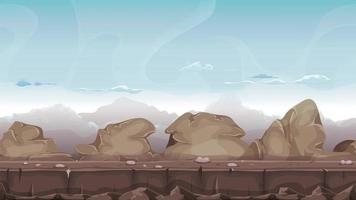 animation de paysage désertique de pierres et de roches