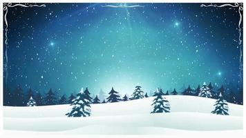 vintage kerst landschap achtergrond video