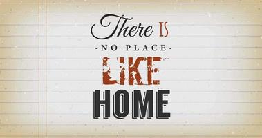Es gibt keinen Ort wie ein Hauszitat