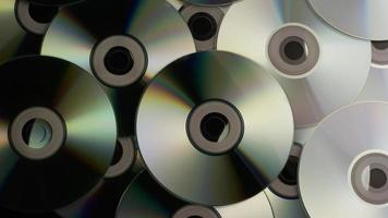 Rotating shot of compact discs - CDs 001