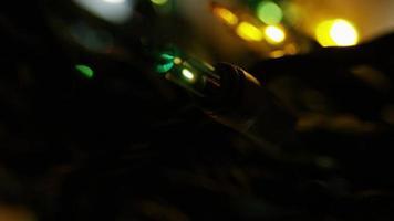Plano cinematográfico y giratorio de luces navideñas ornamentales - navidad 047