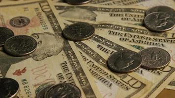 colpo rotante di denaro americano (valuta) - denaro 573