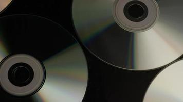 Rotating shot of compact discs - CDs 030