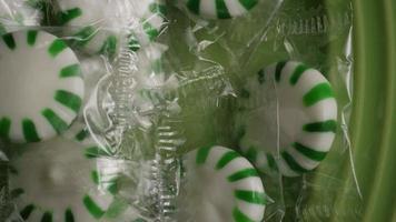 Tiro giratorio de caramelos duros de menta verde - Candy spearmint 006