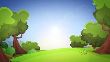 Frühlingskarikatur Natur Hintergrundschleife video