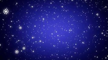 elemento de nieve de brillo de invierno blanco sobre fondo azul