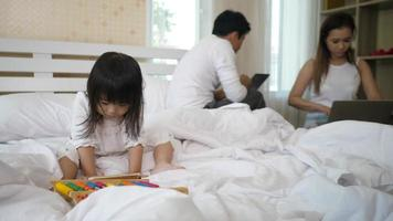 Parents don't care about their daughter playing with a smartphone