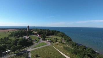 paisagem costeira em kap arkona no mar Báltico da ilha de Ruegen