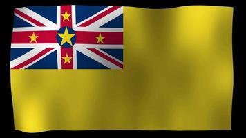 Niue Flag 4K Motion Loop Stock Video