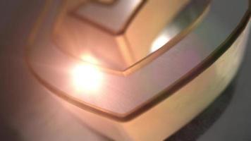 animado defender escudo oro plata icono 3d