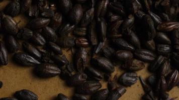 colpo rotante di orzo e altri ingredienti per la produzione di birra - produzione di birra 145