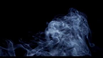 Awesome smoke moving like plasma in the lower section of thye scene on dark background in 4K