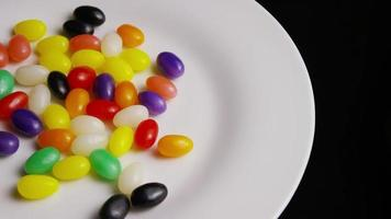 Rotating shot of colorful Easter jelly beans - EASTER 085