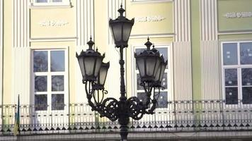 lanterna velha na rua de lviv