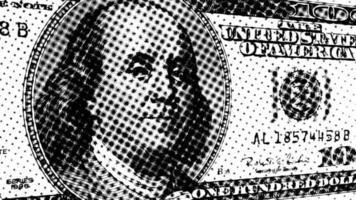 Präsident Benjamin Franklin auf einem Hundert-Dollar-Schein