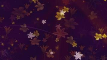 fundo de flores caindo