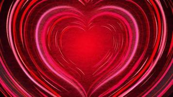 lindos corações vermelhos brilhantes se movendo para fora