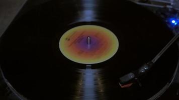 loop de toca-discos de vinil em 4k
