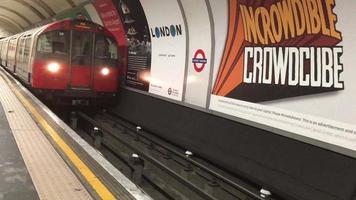 close up do metrô do metrô de londres 4k video