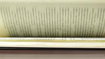 páginas de libro horizontales video